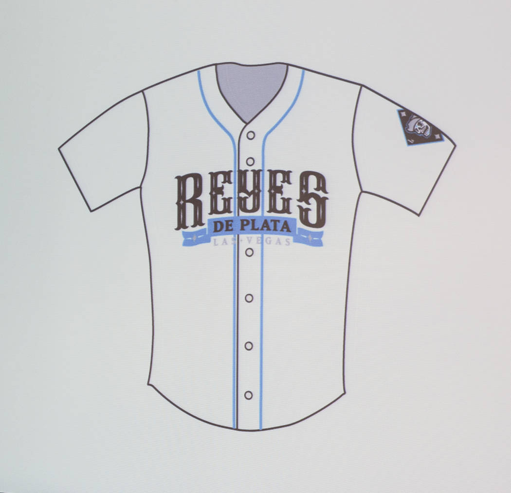 """A new jersey for several games in which the Las Vegas 51s will become the  """"Reyes de Plata,"""" or """"Silver Kings,"""" as part of a new outreach program geared toward  ..."""