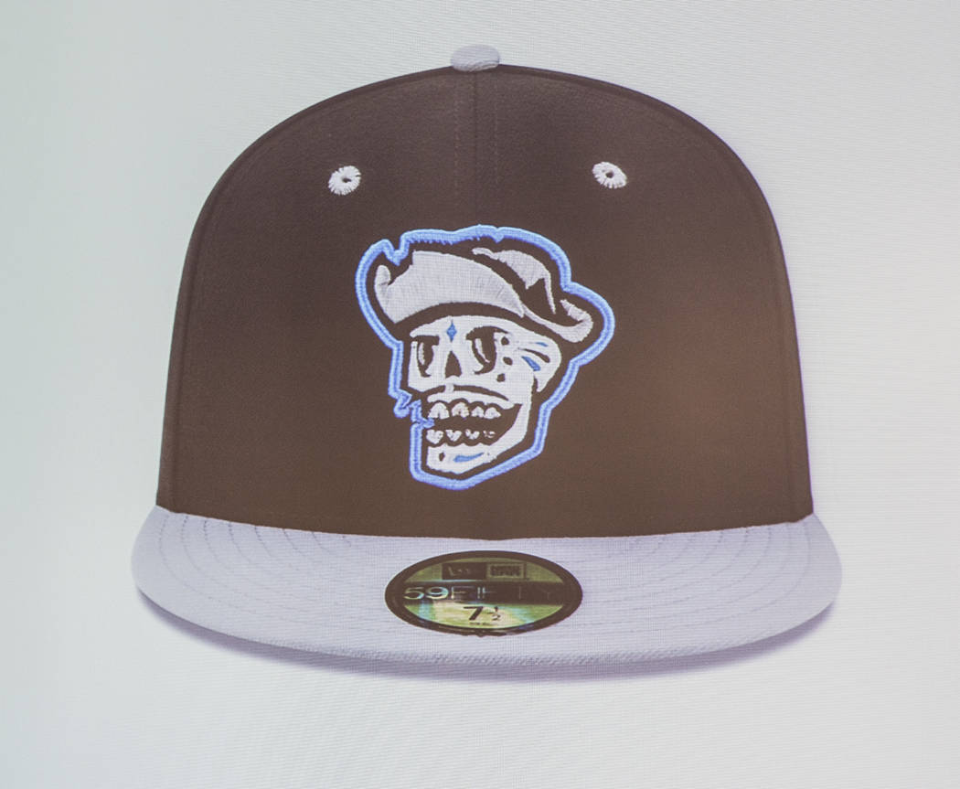 """A hat for several games in which the Las Vegas 51s will become the  """"Reyes de Plata,"""" or """"Silver Kings,"""" as part of a new outreach program geared toward Hispani ..."""