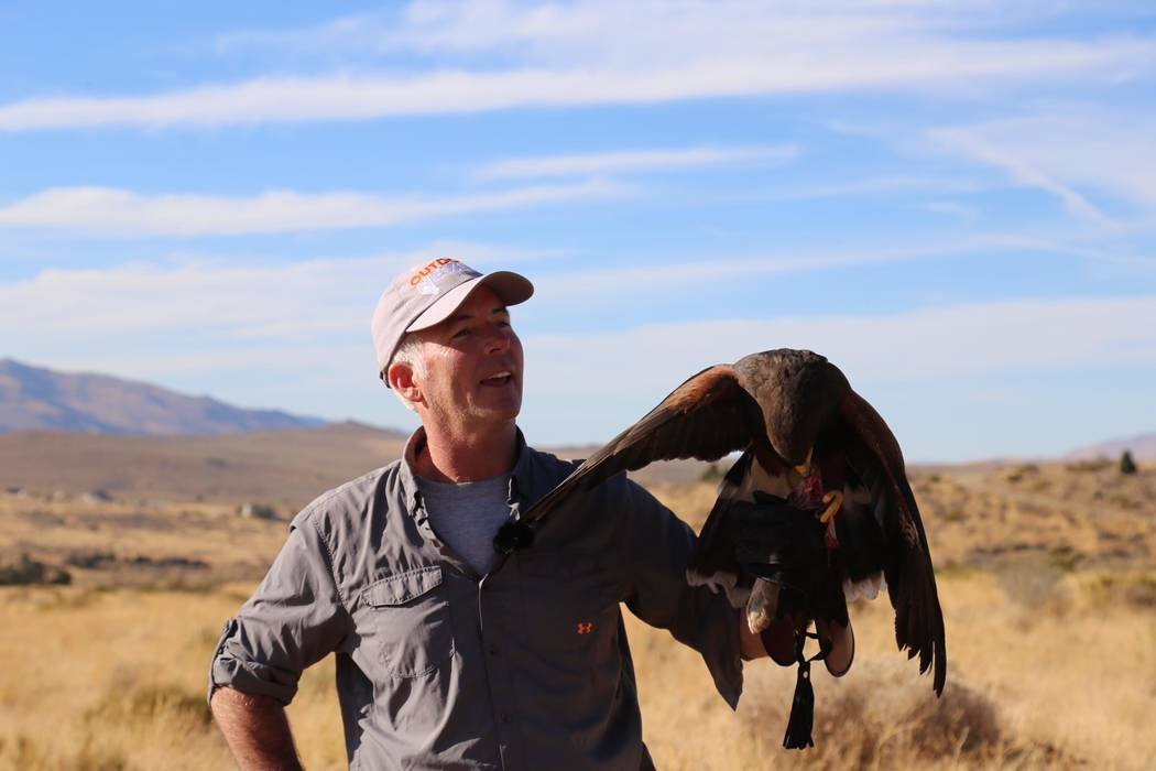 """John Burke, host of """"Outdoor Nevada"""" on Vegas PBS  travels across the state to film its wildlife, people and landscapes."""