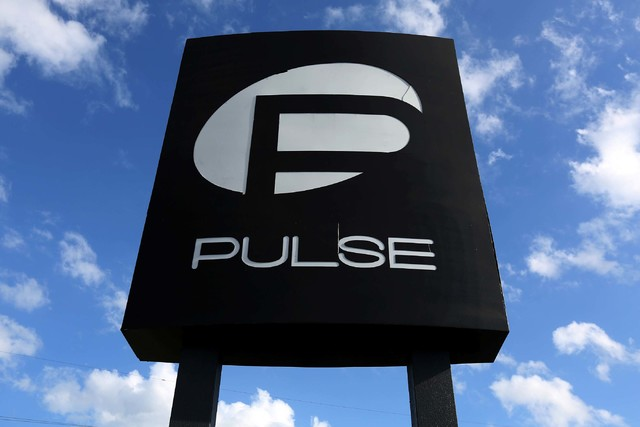 The Pulse nightclub sign in Orlando, Florida, on June 21, 2016. (Carlo Allegri/File, Reuters)