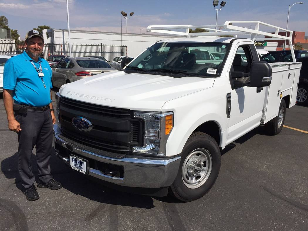Friendly ford friendly ford commercial trucks specialist david boehle is seen with a ford f