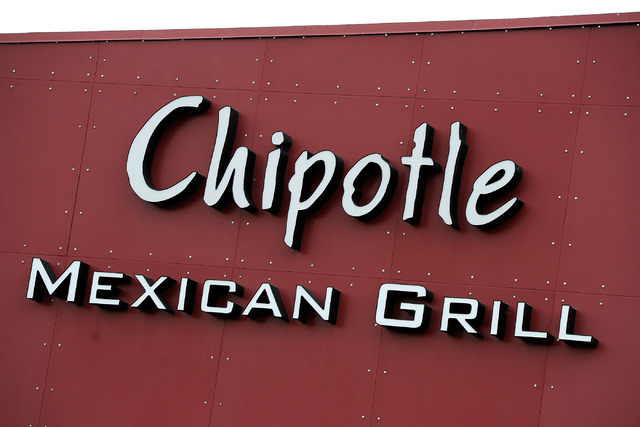 A Chipotle Mexican Grill in Virginia closed for two days after customers reported getting ill. (David Becker/Las Vegas Review-Journal)
