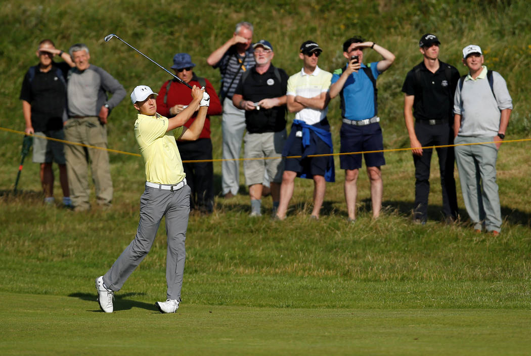 Golf - The 146th Open Championship - Royal Birkdale - Southport, Britain - July 18, 2017  USA's Jordan Spieth in action during a practice round  REUTERS/Paul Childs