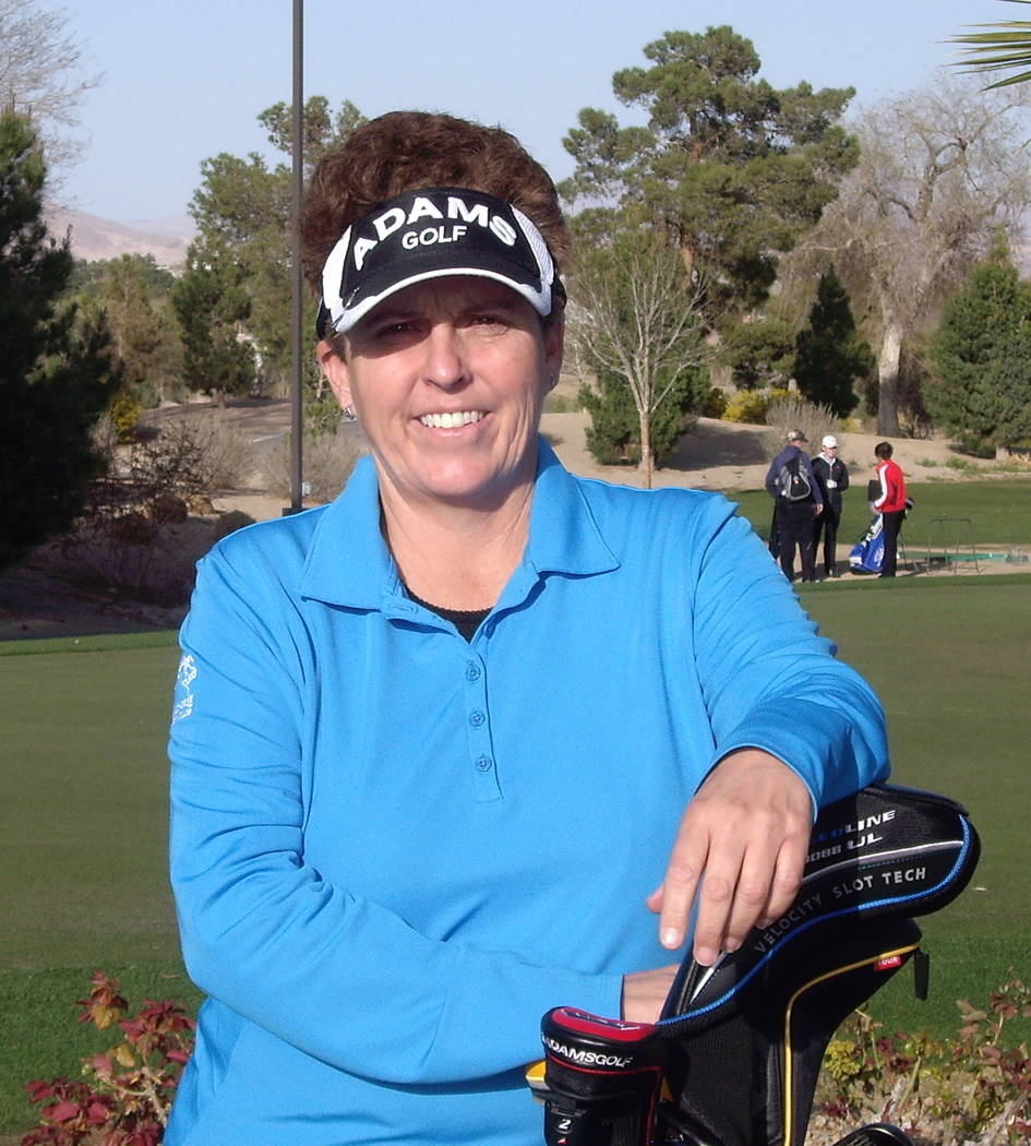 Wildhorse teaching professional Kerri Clark was emotional as she talked about her induction into the Las Vegas Golf Hall of Fame in October. Courtesy Kerri Clark.