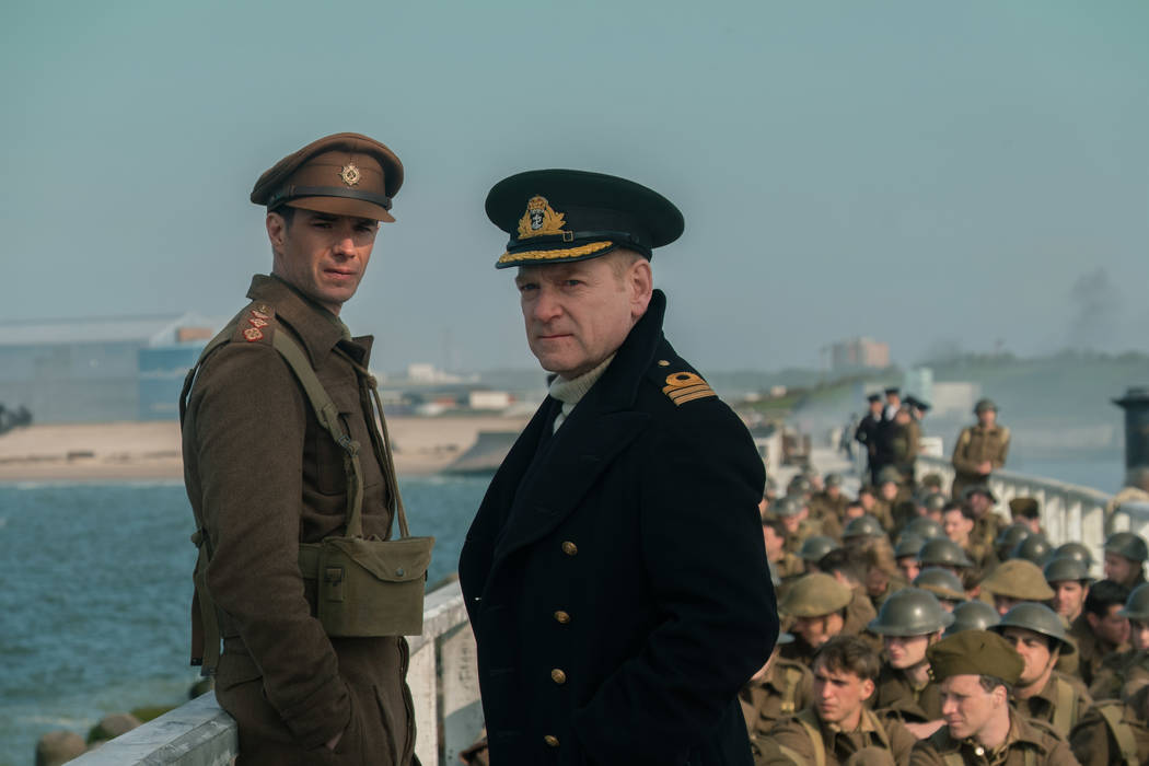 """Jame D'arcy as Colonel Winnant and Kenneth Branagh as Commander Bolton in the Warner Bros. Pictures action thriller """"Dunkirk,"""" a Warner Bros. Pictures release.  Melinda Sue Gordon"""