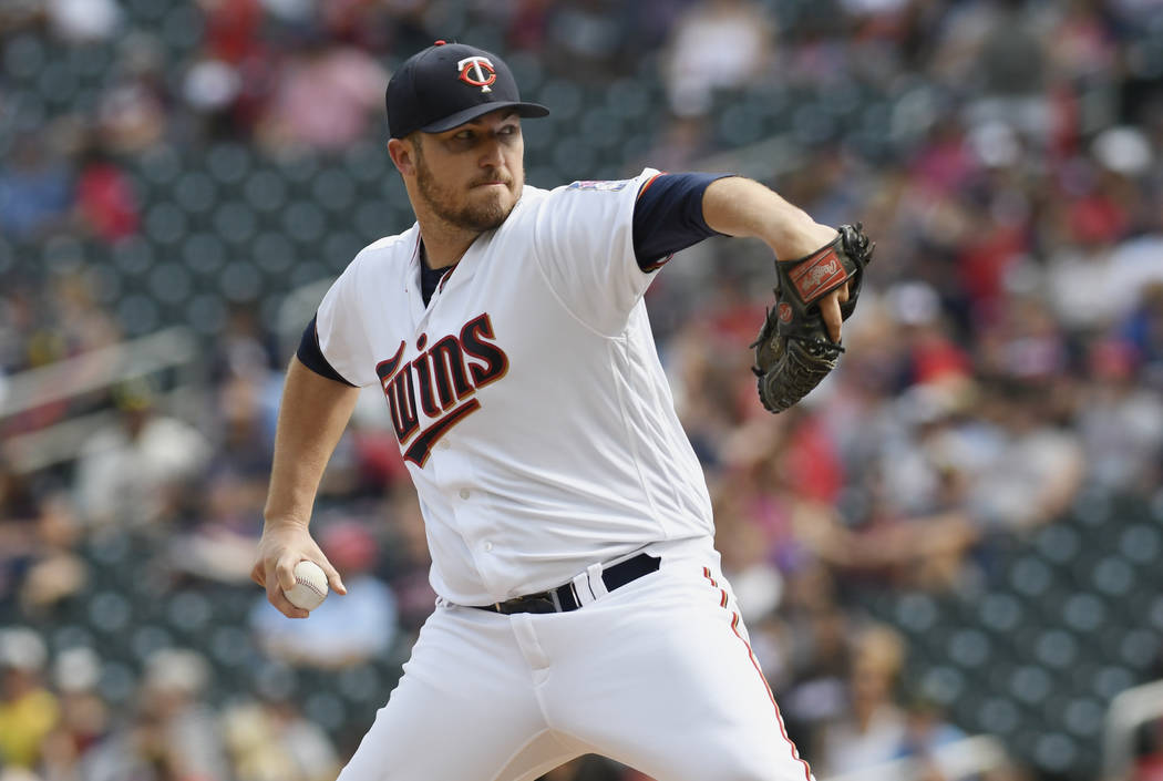 Tom Olmschied/The Associated Press Minnesota Twins' Phil Hughes in a baseball game against the Baltimore Orioles Sunday, July 9, 2017. (AP Photo/Tom Olmscheid)
