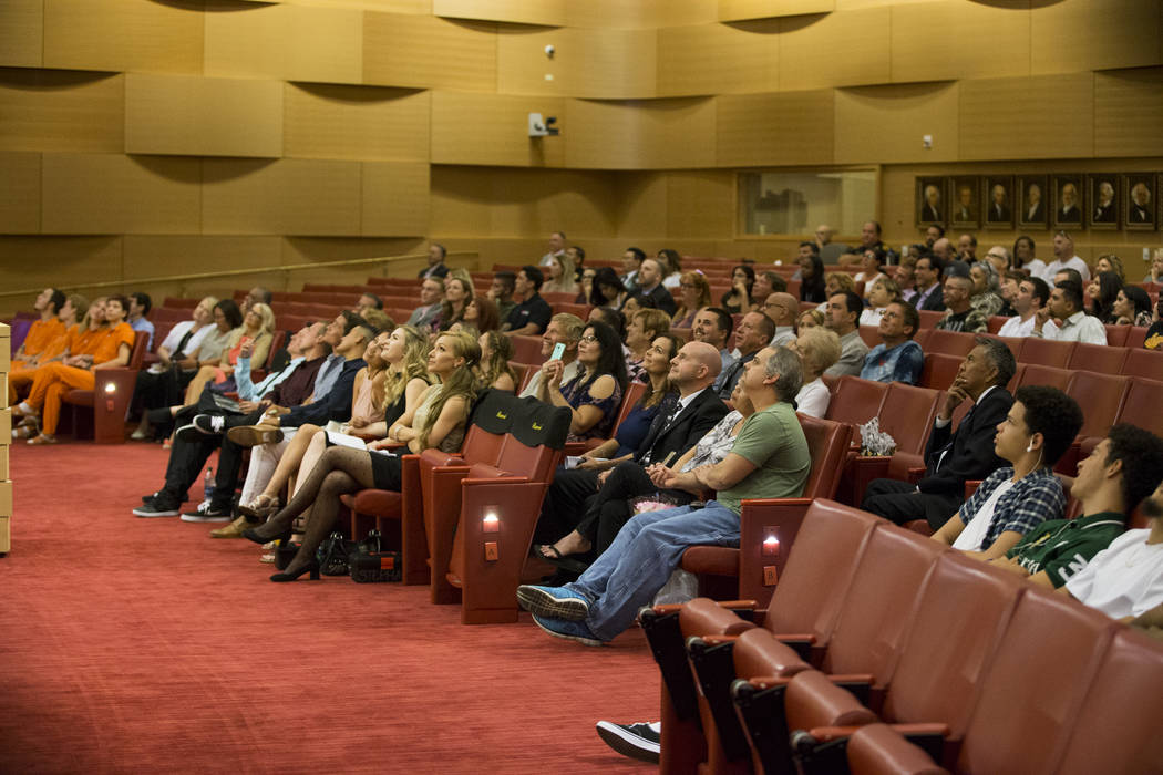 People attend the Youth Offender Court graduation at Las Vegas City Hall in Las Vegas, on Thursday, July 20, 2017. Erik Verduzco Las Vegas Review-Journal @Erik_Verduzco