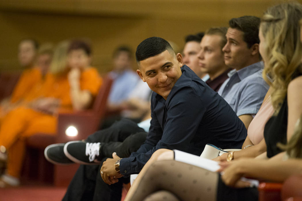 Graduate Lenin Castillo during the Youth Offender Court graduation at Las Vegas City Hall in Las Vegas, on Thursday, July 20, 2017. Erik Verduzco Las Vegas Review-Journal @Erik_Verduzco
