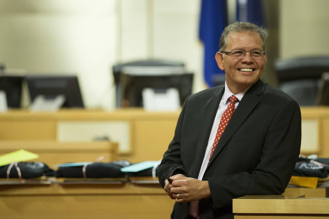 Judge Cedric Kerns during the Youth Offender Court graduation at Las Vegas City Hall in Las Vegas, on Thursday, July 20, 2017. Erik Verduzco Las Vegas Review-Journal @Erik_Verduzco