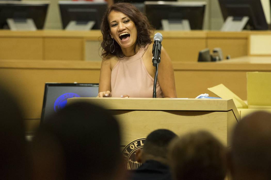 Graduate Katie Laikona during the Youth Offender Court graduation at Las Vegas City Hall in Las Vegas, on Thursday, July 20, 2017. Erik Verduzco Las Vegas Review-Journal @Erik_Verduzco