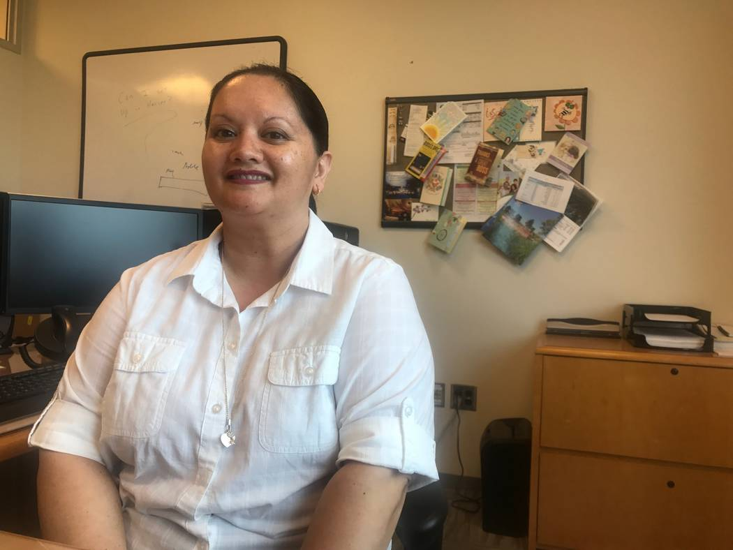 Romina Chapman-Wilson, who is the city's business services manager in the utilities department, in office on July 20 at the City Hall in North Las Vegas, 2250 N. Las Vegas Blvd. (Kailyn Brown/Vi ...