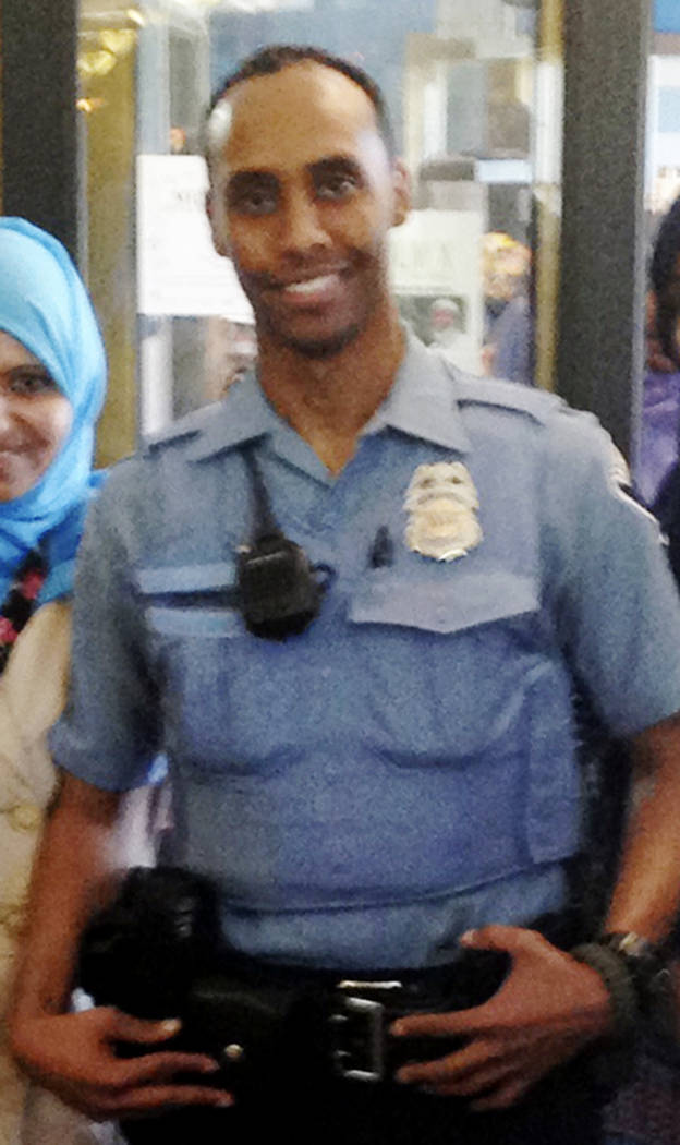 In this May 2016 image provided by the City of Minneapolis, police Officer Mohamed Noor poses for a photo at a community event welcoming him to the Minneapolis police force. Noor, a Somali-America ...