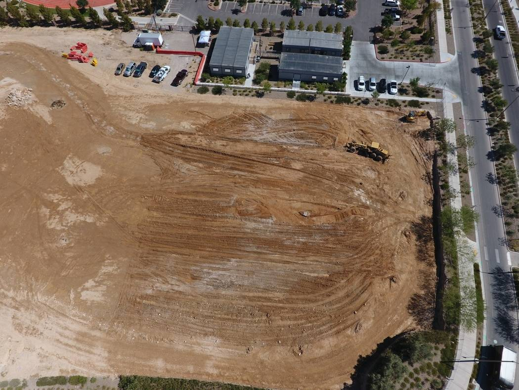 Drone footage of the construction site of the Holy Spirit Catholic Church at 5830 Mesa Park Drive, taken by Louie Latina, a youth minister at the church. (courtesy)