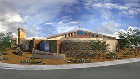 Rendering of the exterior of the Holy Spirit Catholic Church by architect Jim Van Compernolle of JVC Architects.