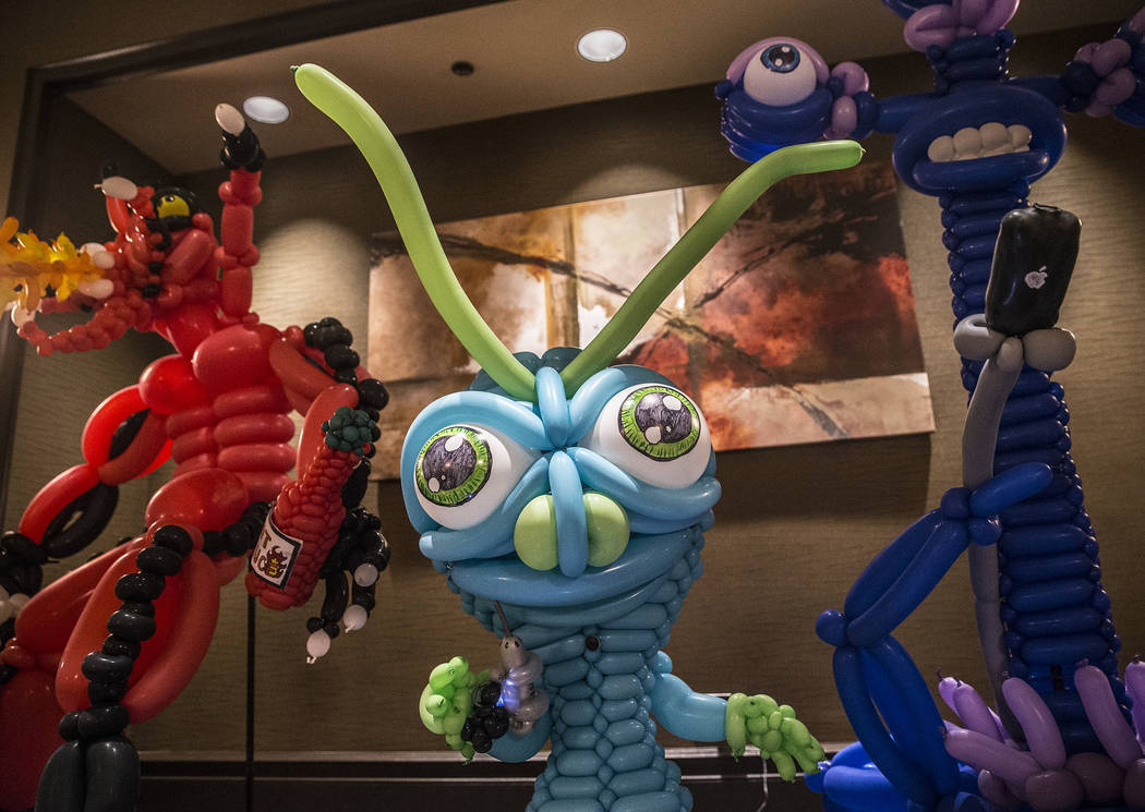 Alien balloon art at the Bling Bling Jam Balloon Convention on Wednesday, July 26, 2017, at the Golden Nugget hotel-casino, in Las Vegas. Benjamin Hager Las Vegas Review-Journal @benjaminhphoto
