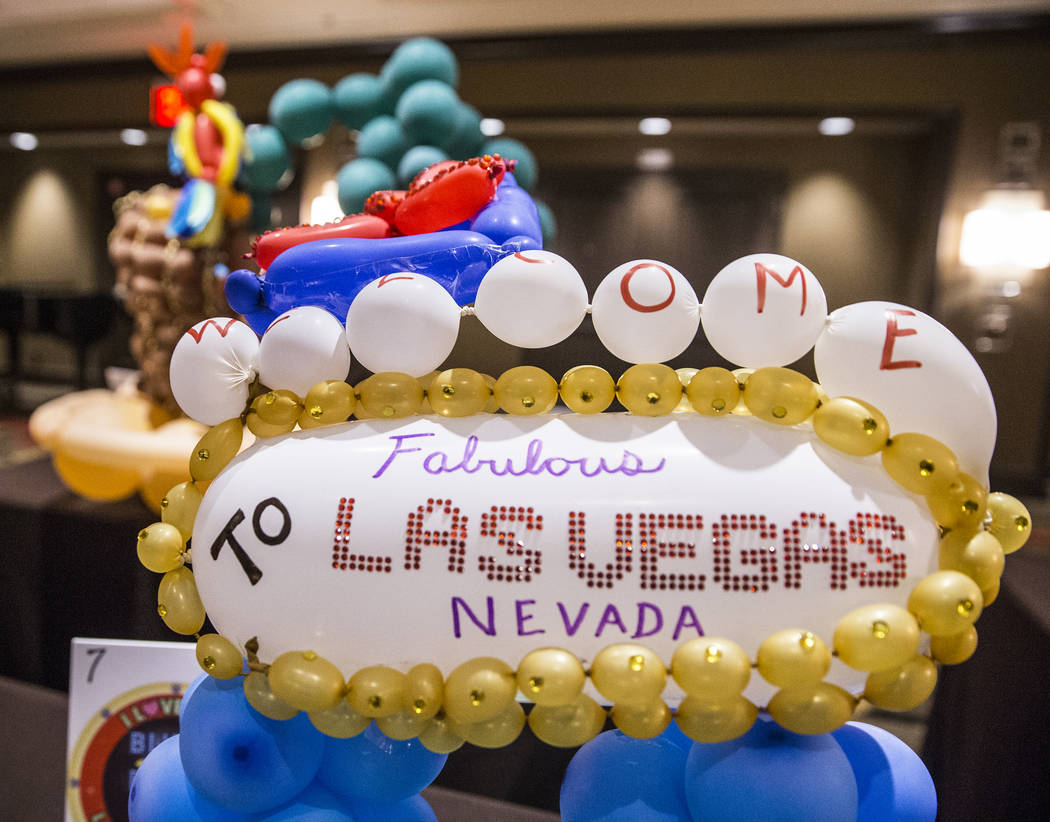 Las Vegas themed balloon art at the Bling Bling Jam Balloon Convention on Wednesday, July 26, 2017, at the Golden Nugget hotel-casino, in Las Vegas. Benjamin Hager Las Vegas Review-Journal @benjam ...