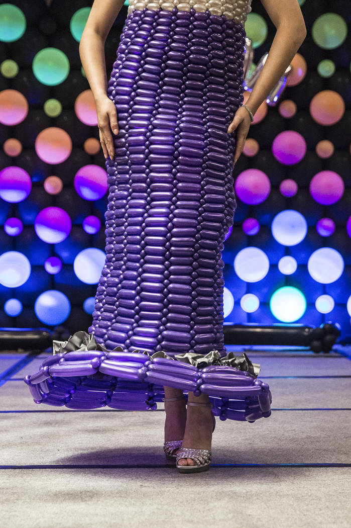 Models walk the runway during the fashion show at the Bling Bling Jam Balloon Convention on Wednesday, July 26, 2017, at the Golden Nugget hotel-casino, in Las Vegas. Benjamin Hager Las Vegas Revi ...