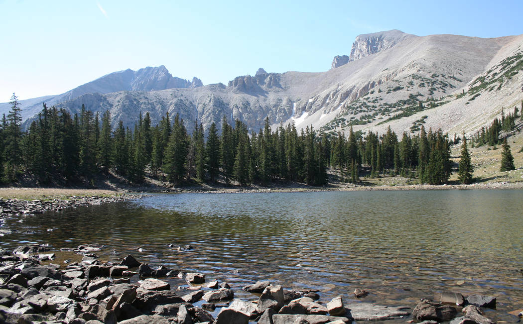 Stella Lake is located at the base of Wheeler Peak in Great Basin National Park along the Alpine Lakes Loop Trail. (Deborah Wall)