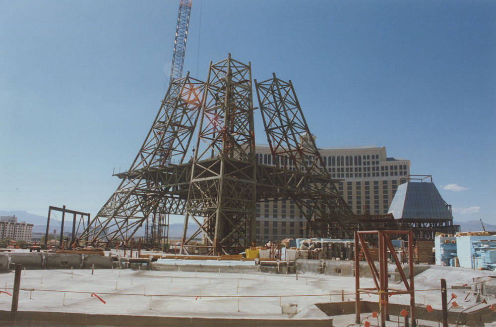 Courtesy  Casino architect Joel Bergman asked his son. Leonard, to help him build Paris Las Vegas. Leonard Bergman said origionally the build an Eiffel Tower full-sized replica. But the Federal Av ...