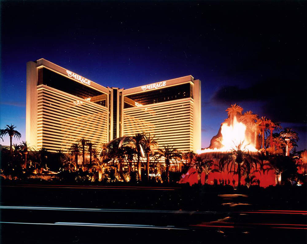 The Mirage with its volcano attraction sparked the reinvention of Las Vegas in the early 1990s. Casino architect Joel Bergman lead Steve Wynn's Atlandia design team, which conceived of The Mirag ...