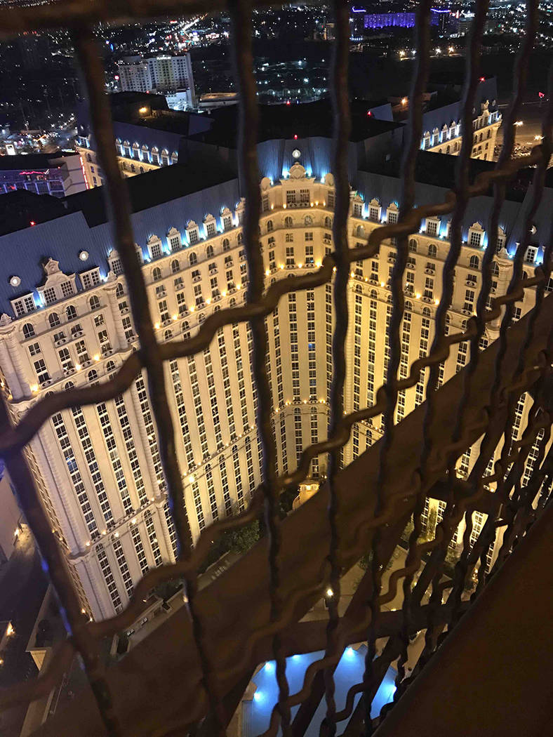 View form a deck of the Eiffel Tower replica at Paris Las Vegas. (Courtesy)