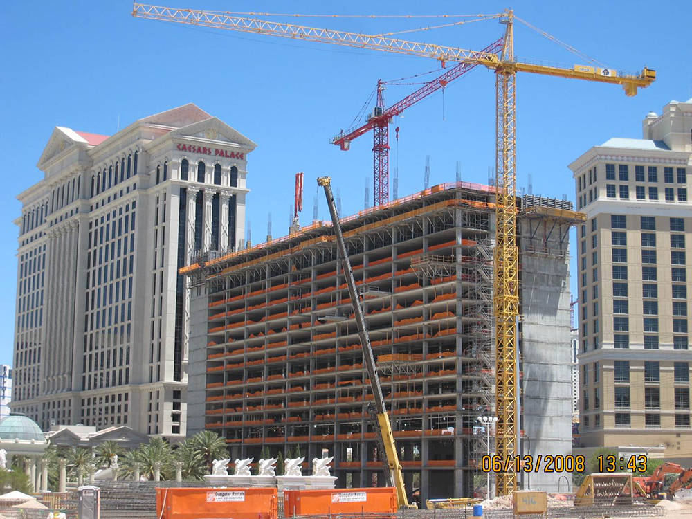 Caesars Palace builds its Octavius Tower. (Courtesy)