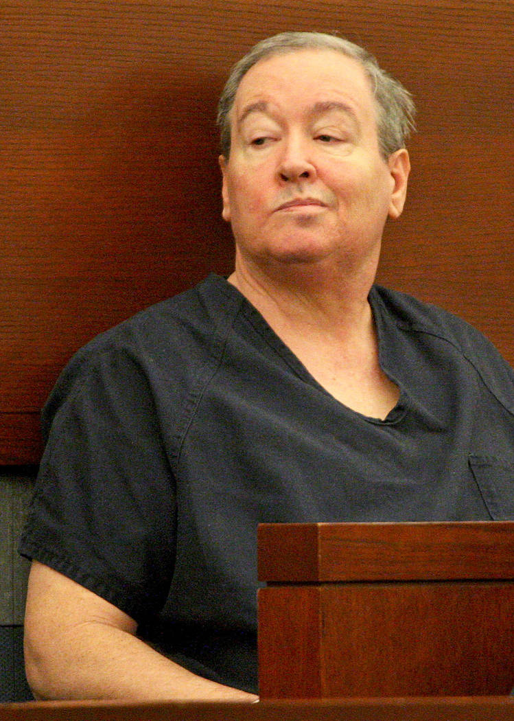 Accused squatter Thomas Benson at the Regional Justice Center during his competency hearing, Friday, July 21, 2017. Gabriella Benavidez Las Vegas Review-Journal @latina_ish