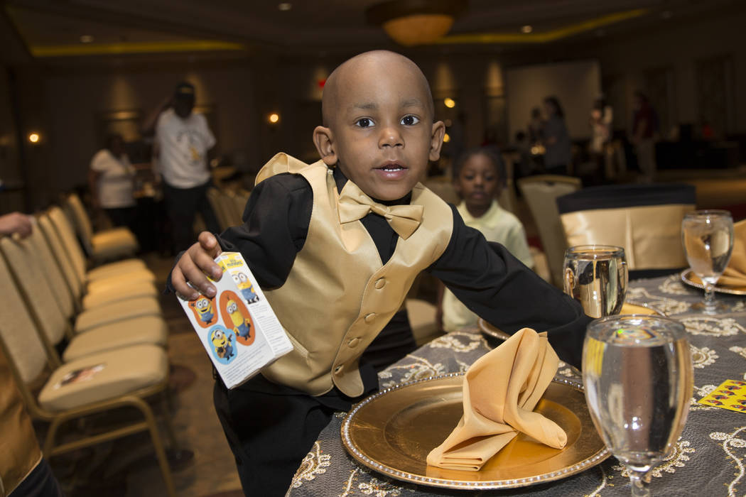Ayden Brown, 2, diagnosed with terminal cancer at the age of one, during a fundraiser by his family at the Suncoast on Saturday, July 22, 2017. Erik Verduzco Las Vegas Review-Journal @Erik_Verduzco