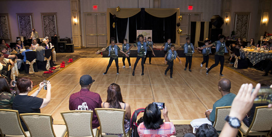 Children perform during a fundraiser for Ayden Brown, who was diagnosed with terminal cancer at the age of one, at the Suncoast on Saturday, July 22, 2017. Erik Verduzco Las Vegas Review-Journal @ ...