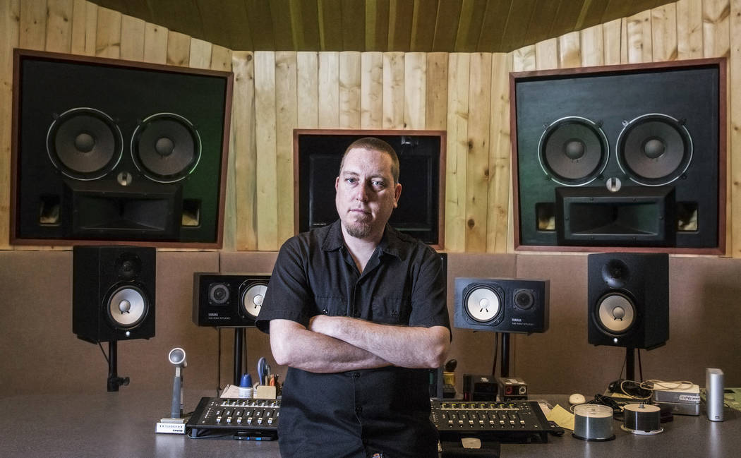 Mike Lavin, owner of Digital Insight recording studio, on Thursday, July 20, 2017, in Las Vegas. Benjamin Hager Las Vegas Review-Journal @benjaminhphoto