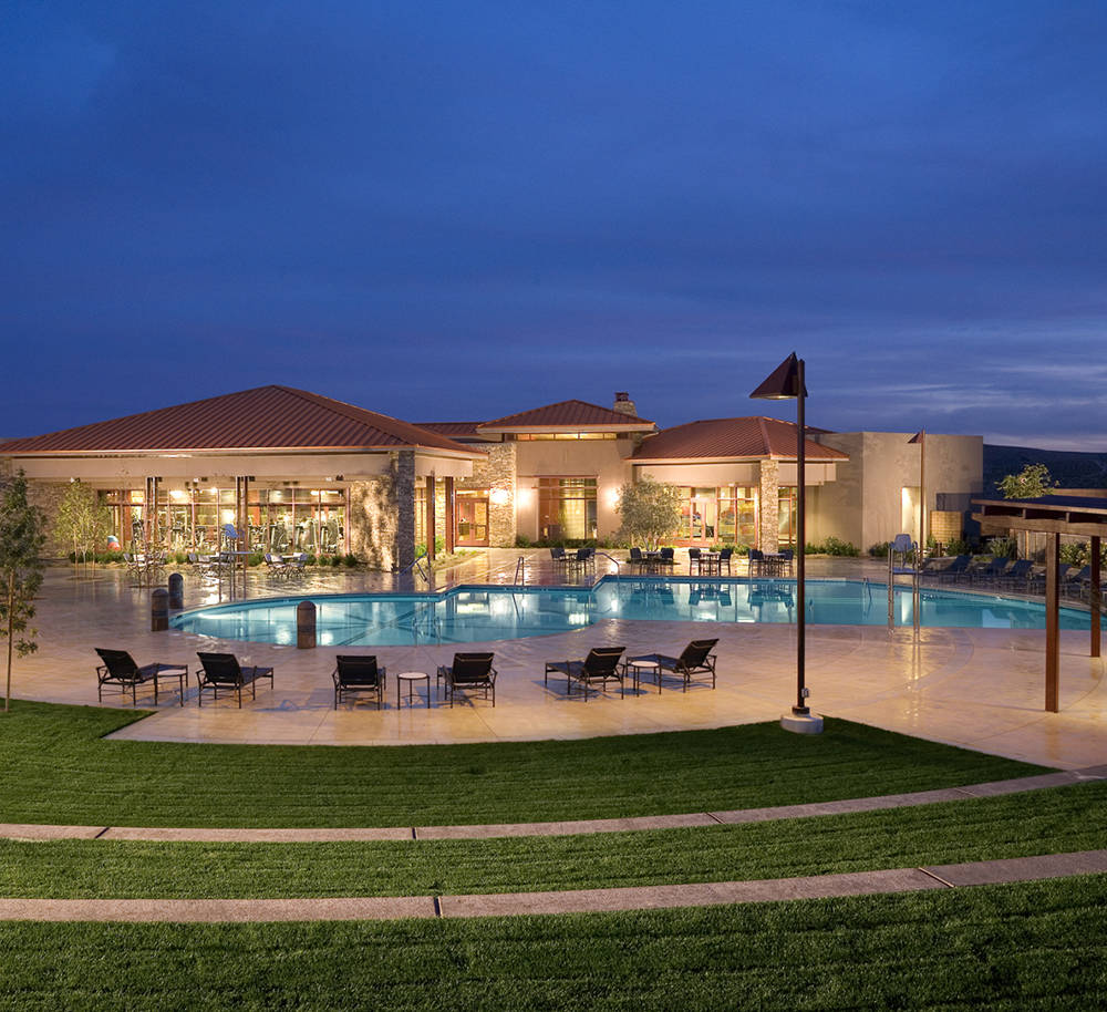 Club Ridges is a private health, fitness, tennis and swim facility for Ridges' residents and their guests.  (Summerlin)