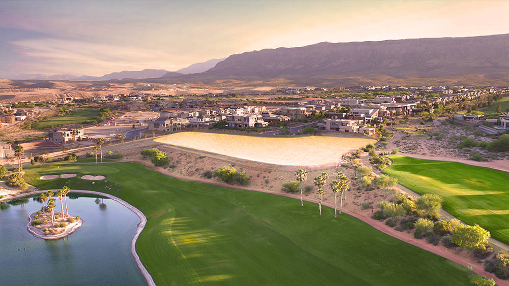 The 3.86-acre site called Falcon Pointe in The Ridges in Summerlin is listed for $7.5 million, making it one of the most expensive lots in the valley on the market. (Summerlin)