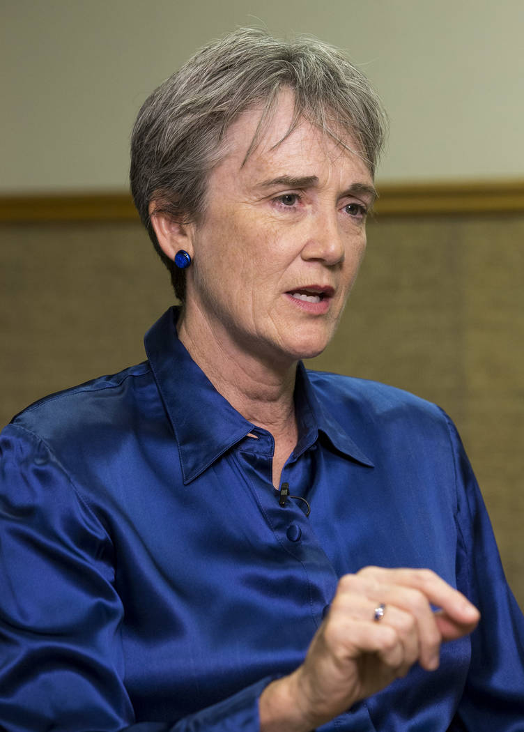 Secretary of the Air Force Heather Wilson during an interview with the Las Vegas Review-Journal at Nellis Air Force Base, Friday, July 21, 2017. Richard Brian Las Vegas Review-Journal @vegasphotograph