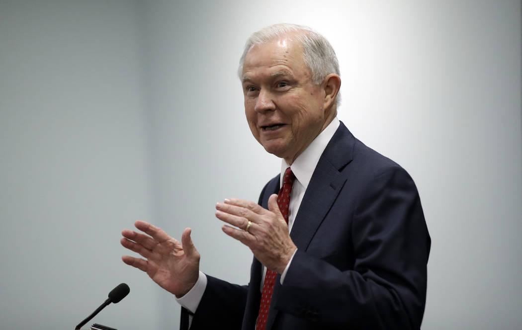 Attorney General Jeff Sessions. AP Photo/Matt Rourke