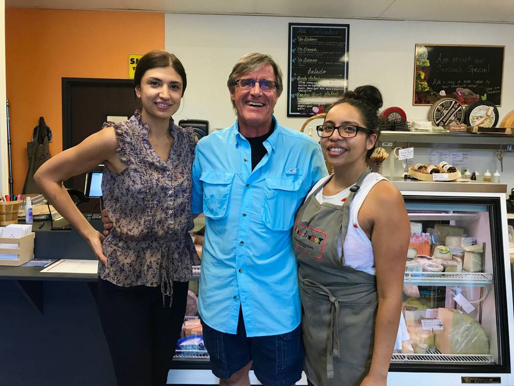 From left to right, Rocksan Clark, Michael Stamm and Charlene Alvarado of Cured & Whey. (Madelyn Reese/View) @MadelynGReese