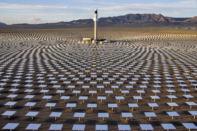 NV Energy has a 25-year contract to buy all the renewable energy produced by the Crescent Dunes solar plant in Nye County, northwest of Tonopah. SolarReserve