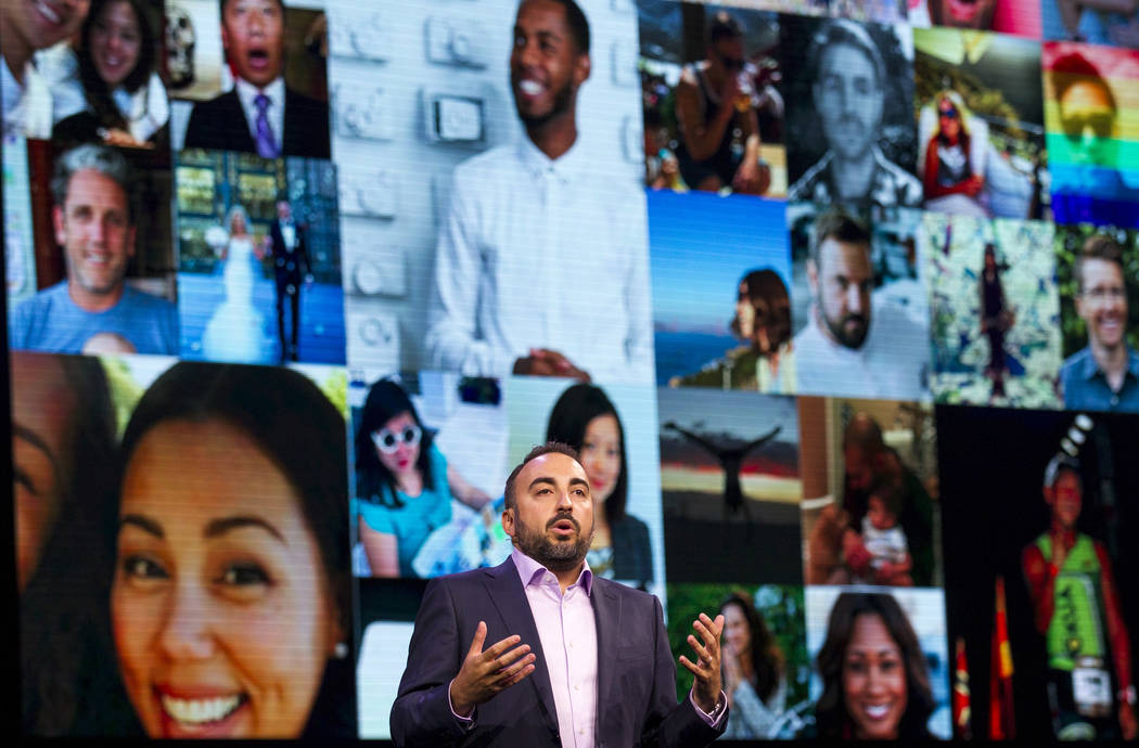 Alex Stamos, chief security officer at Facebook, gives a keynote during the Black Hat information security conference at Mandalay Bay, Wednesday, July 26, 2017, in Las Vegas. Richard Brian Las Veg ...