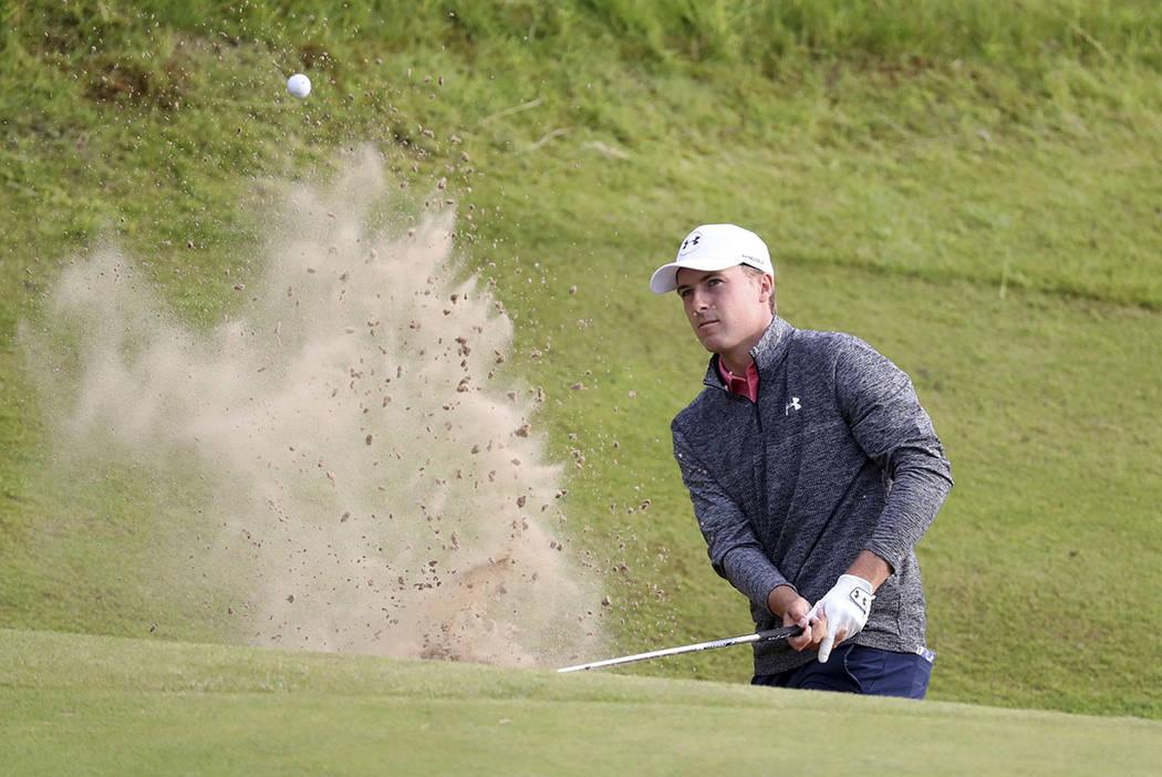 spieth shines at 3rd round of british open