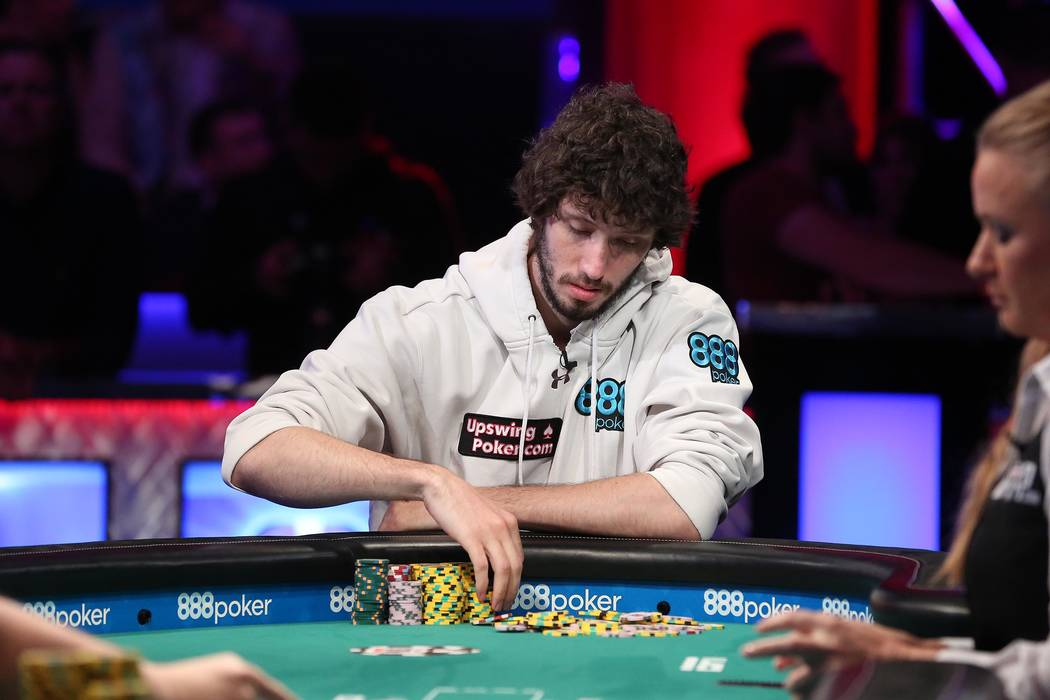 Dan Ott plays during the World Series of Poker final table at the Rio Convention Center in Las Vegas on Saturday, July 22, 2017.  Bridget Bennett Las Vegas Review-Journal @bridgetkbennett