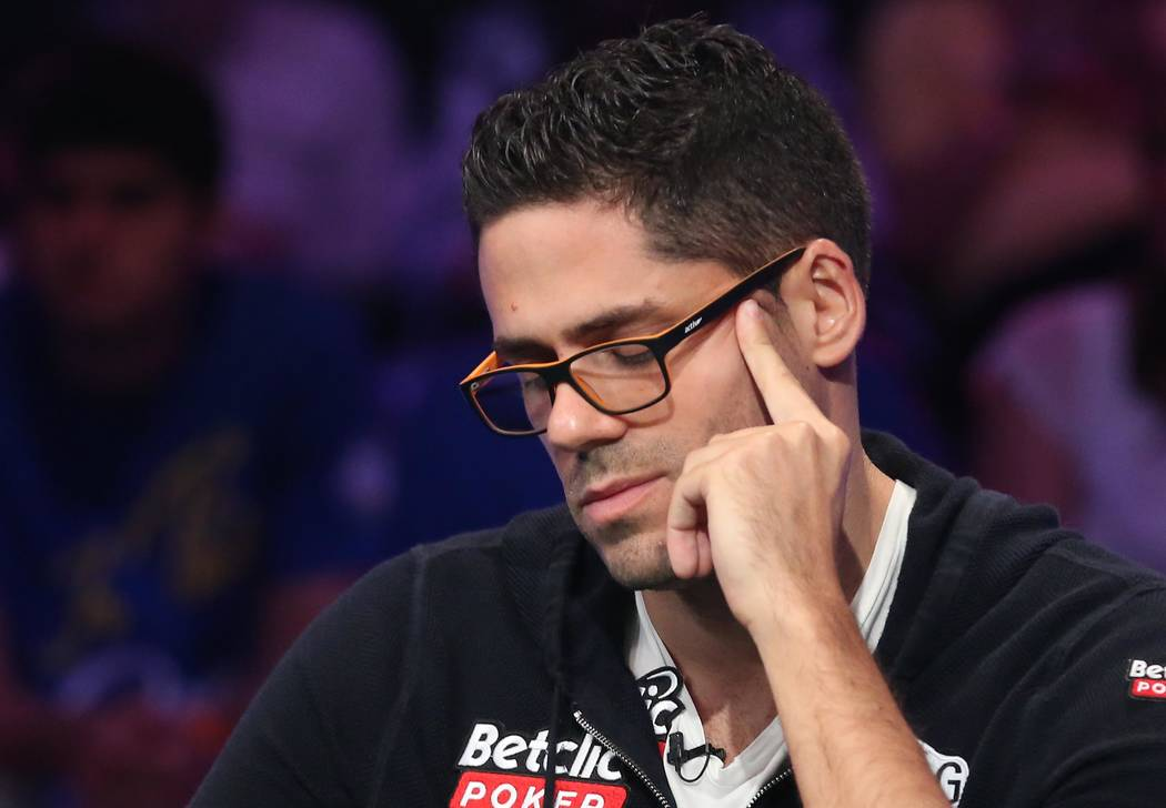 Benjamin Pollak plays during the World Series of Poker final table at Rio hotel-casino in Las Vegas on Saturday, July 22, 2017.  Bridget Bennett Las Vegas Review-Journal @bridgetkbennett