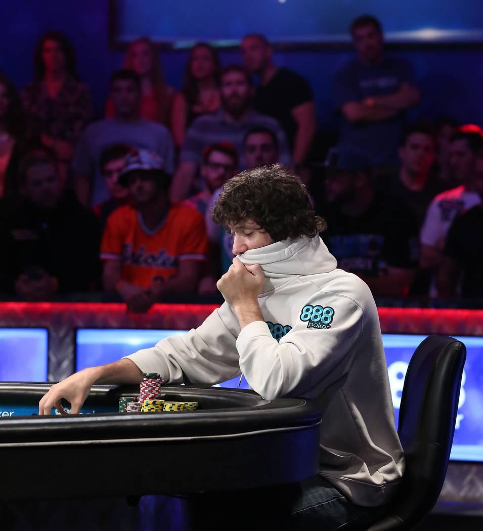 Dan Ott plays during the World Series of Poker final table at Rio hotel-casino in Las Vegas on Saturday, July 22, 2017.  Bridget Bennett Las Vegas Review-Journal @bridgetkbennett