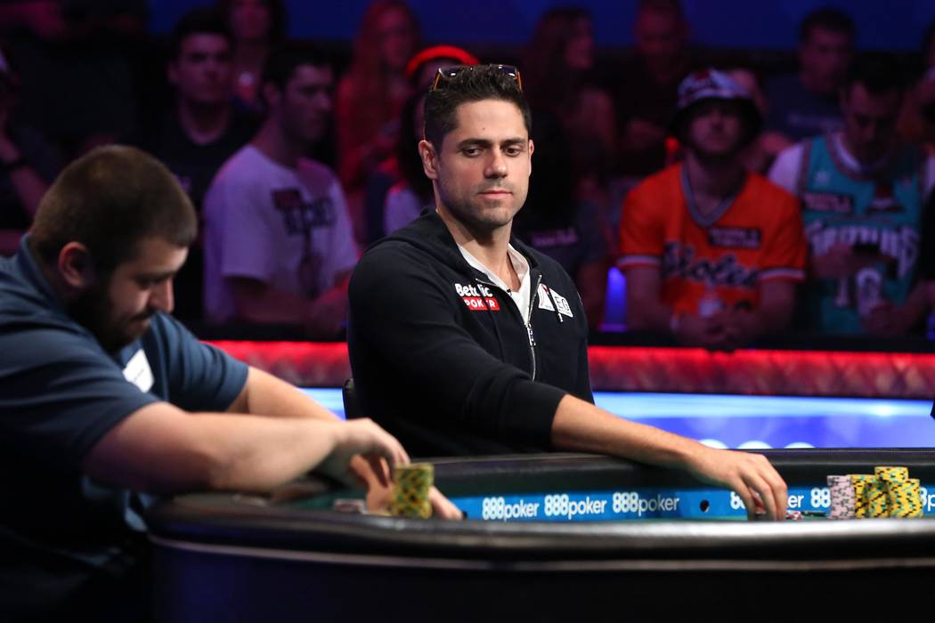 Benjamin Pollak plays during the World Series of Poker final table at the Rio Convention Center in Las Vegas on Saturday, July 22, 2017.  Bridget Bennett Las Vegas Review-Journal @bridgetkbennett
