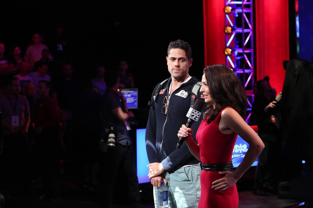 Benjamin Pollak falls out of the World Series of Poker final table at the Rio Convention Center in Las Vegas on Saturday, July 22, 2017.  Bridget Bennett Las Vegas Review-Journal @bridgetkbennett