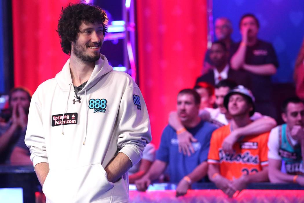 Dan Ott plays at the World Series of Poker final table at the Rio Convention Center in Las Vegas on Saturday, July 22, 2017.  Bridget Bennett Las Vegas Review-Journal @bridgetkbennett