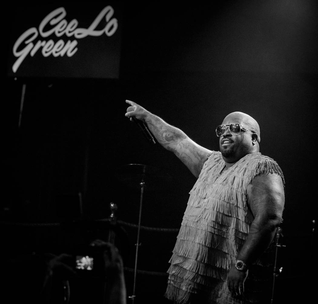CeeLo Green is shown performing at Cleopatra's Barge at Caesars Palace on Friday, July 21, 2013 (Erik Kabik Photography/erikkabik.com)