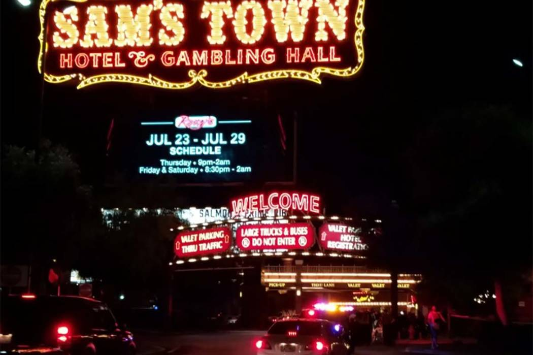 Las Vegas police are investigating a shooting that took place at Sam's Town early Monday morning. (Mike Shoro/Las Vegas Review-Journal)