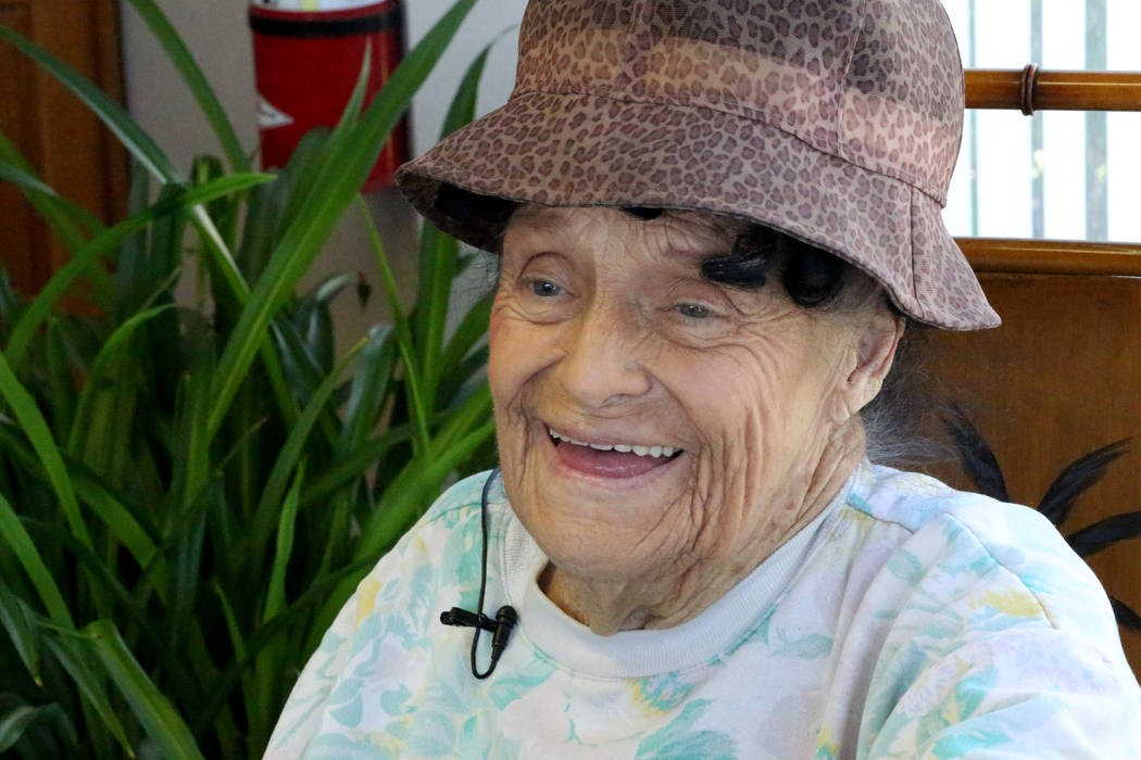 Mary Azzara, who has lived in the same apartment at The Palms apartments on Sahara Avenue for over 50 years, reminisces about her years as a toga-wearing Caesar's cocktail waitress on Frida ...