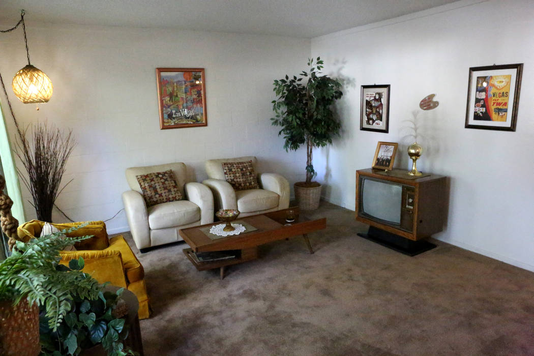 A model apartment is shown with vintage furnishings at The Palms apartment complex where developers plan to build four 45-story apartment towers with over 1,400 units at the 700 block of Sahara Av ...