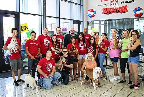 "Josh ""Chop"" Towbin at Towbin Dodge RAM Superstore to sost an animal adoption event. (Courtesy)"