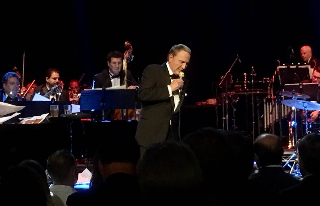 """Bob Anderson performs """"Frank: The Man, The Music"""" at Avalon Hollywood in Los Angeles on Wednesday, July 19, 2017 (John Katsilometes/Las Vegas Review-Journal) @JohnnyKats"""